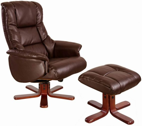 3-GFA-Shanghai-Nut-Brown-Bonded-Leather-Swivel-Recliner-Chair