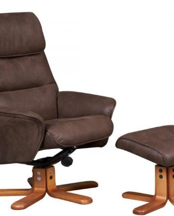 GFA recliner Amalfi Suede chair brown, Highgate furniture southend on sea Essex