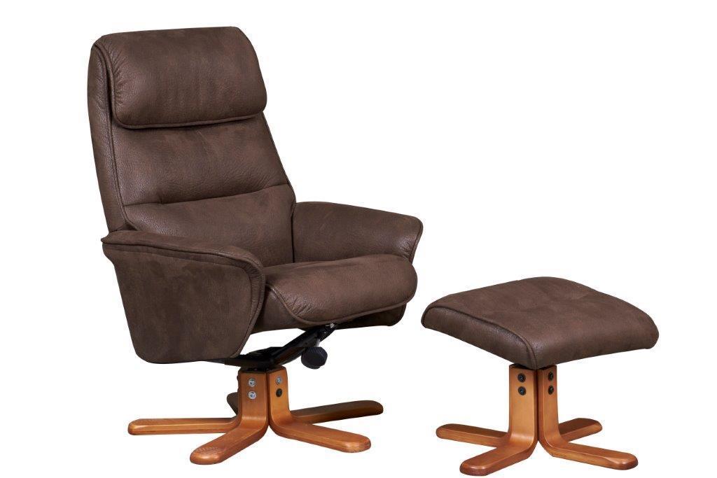 GFA recliner Amalfi Suede chair brown, Highgate furniture southend on sea Essex