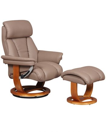 GFA Portofini Leather Recliner Chair For Sale