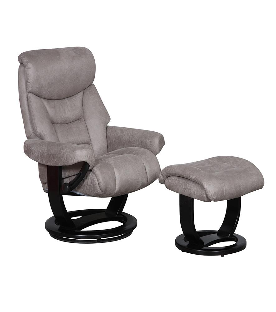 Prime Gfa Senator Faux Suede Swivel Recliner Chair Grey Pabps2019 Chair Design Images Pabps2019Com