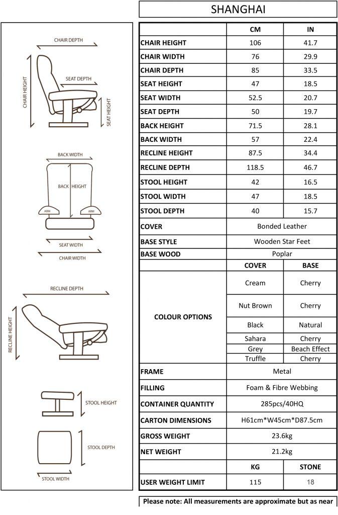 GFA Shanghai Swivel Recliner Chair-1