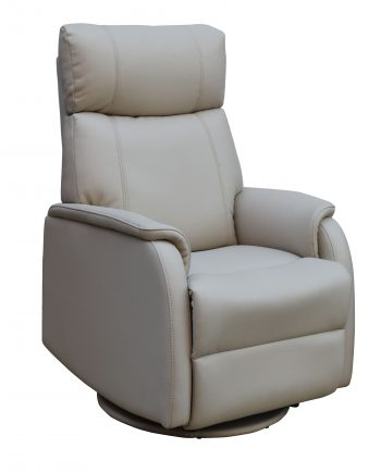 GFA Positano Electric Swivel Recliner Bone Highgate Furniture