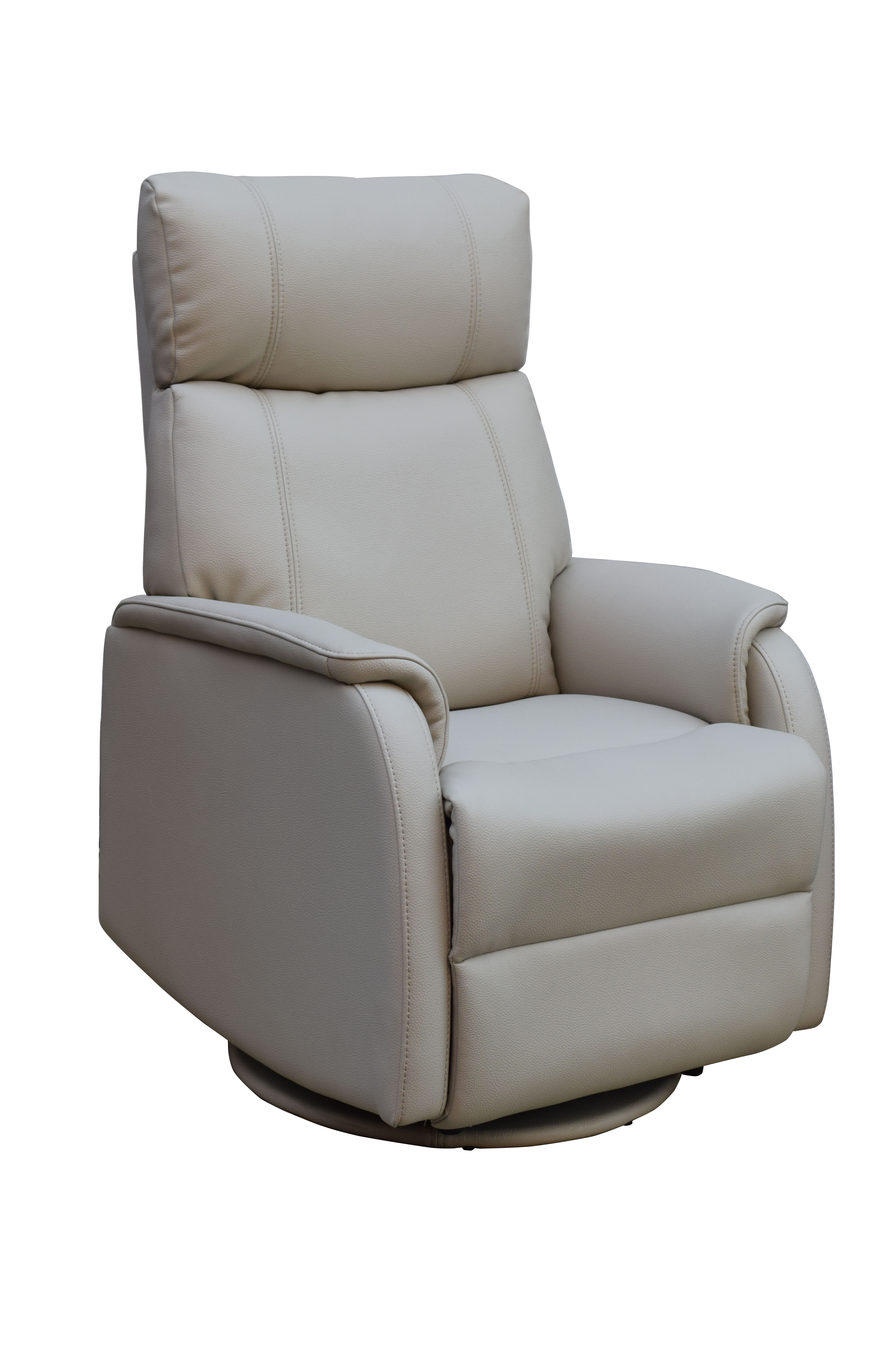 GFA Positano Electric Swivel Leather Recliner Chair Bone