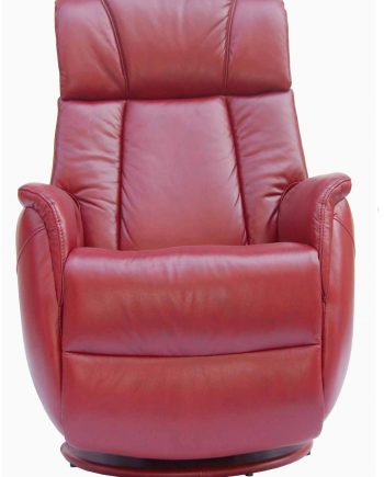 GFA Sorrento Electric Rock Recliner Swivel Leather Chair Ruby Red