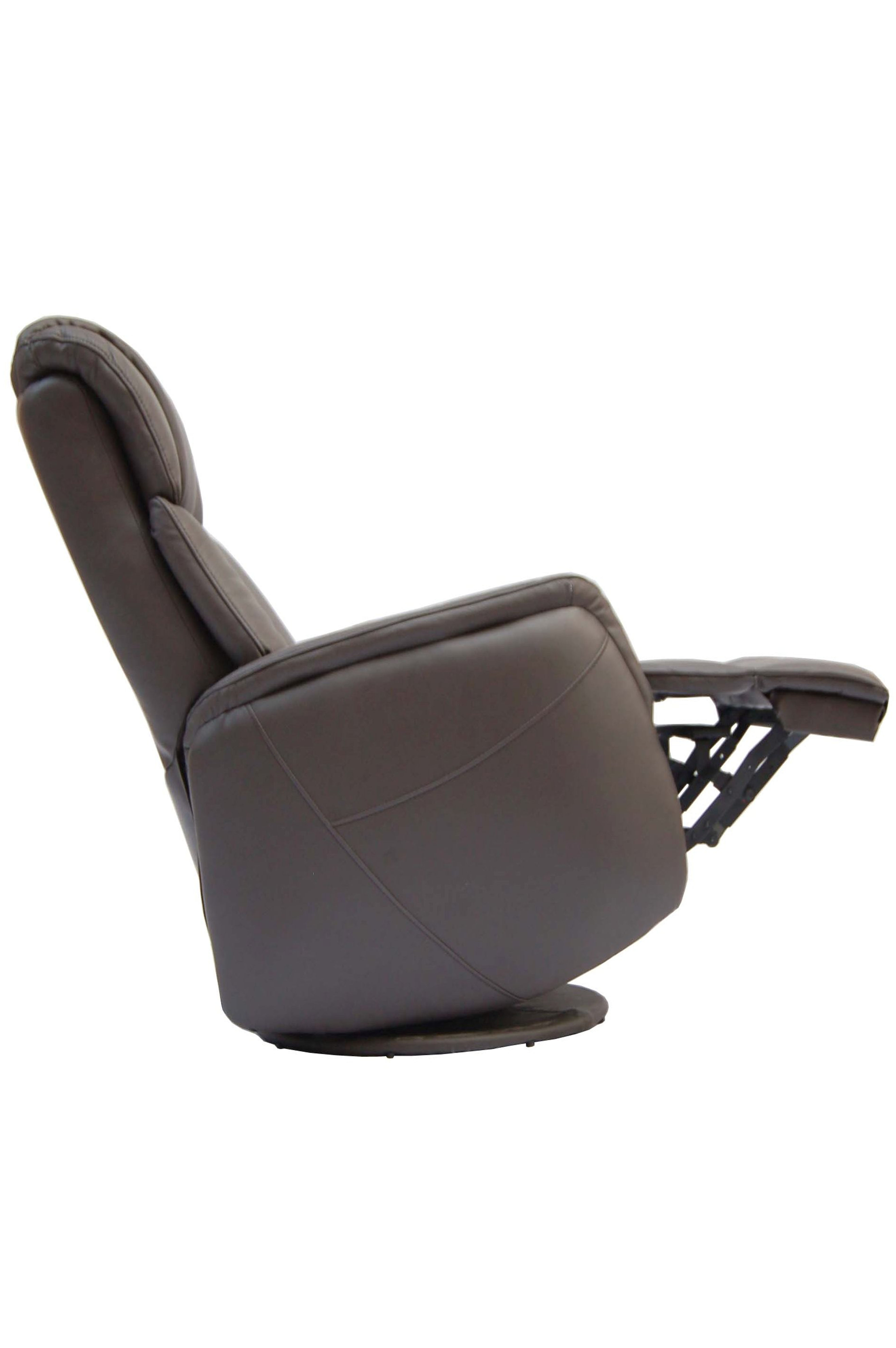 Gfa Sorrento Electric Rock Swivel Leather Recliner Chair Espresso
