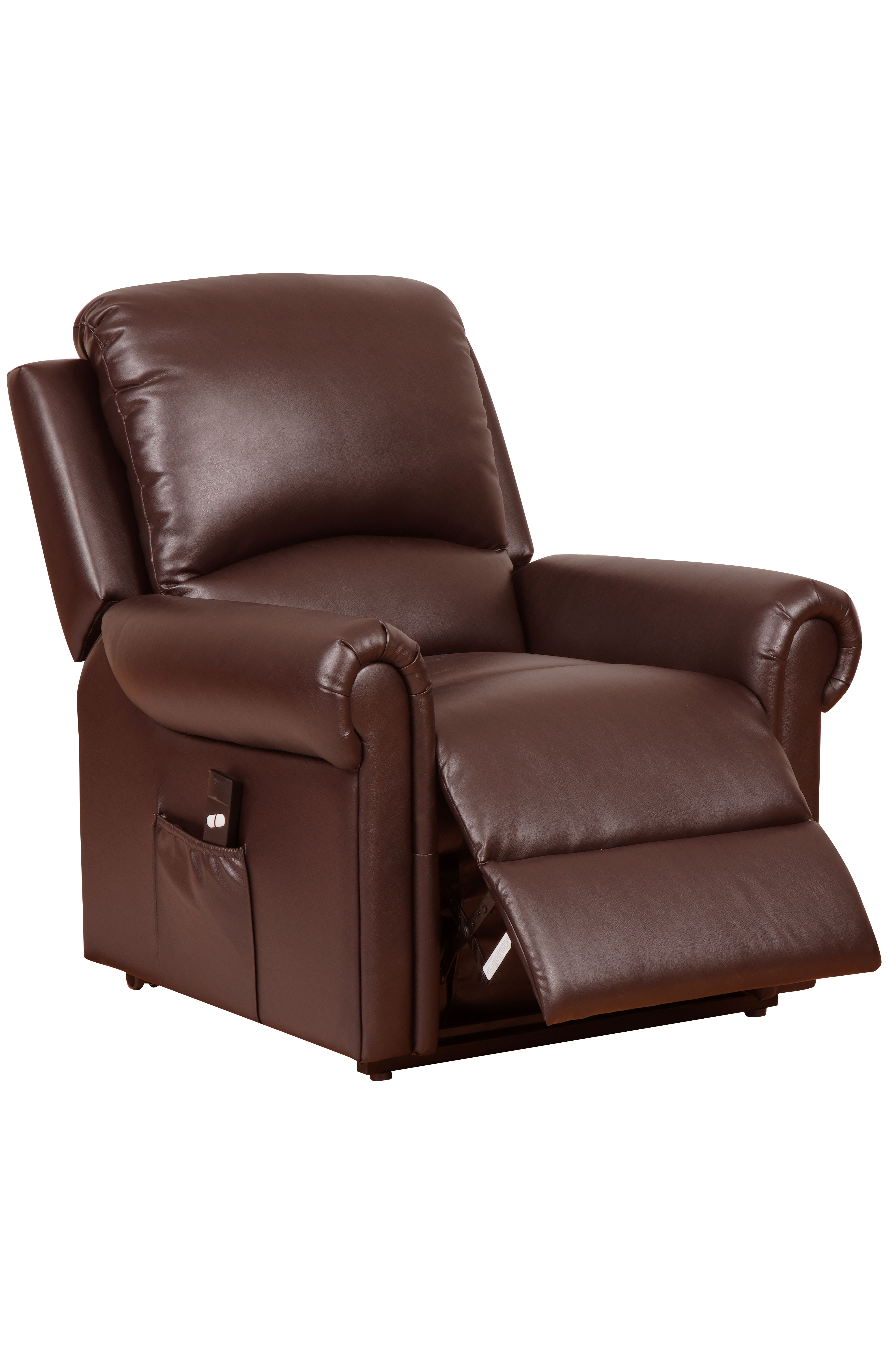 gfa tetbury single motor leather riser recliner nut brown