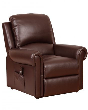 GFA Tetbury Riser Recliner Leather Chair Nut Brown Highgate Furniture Southend On Sea