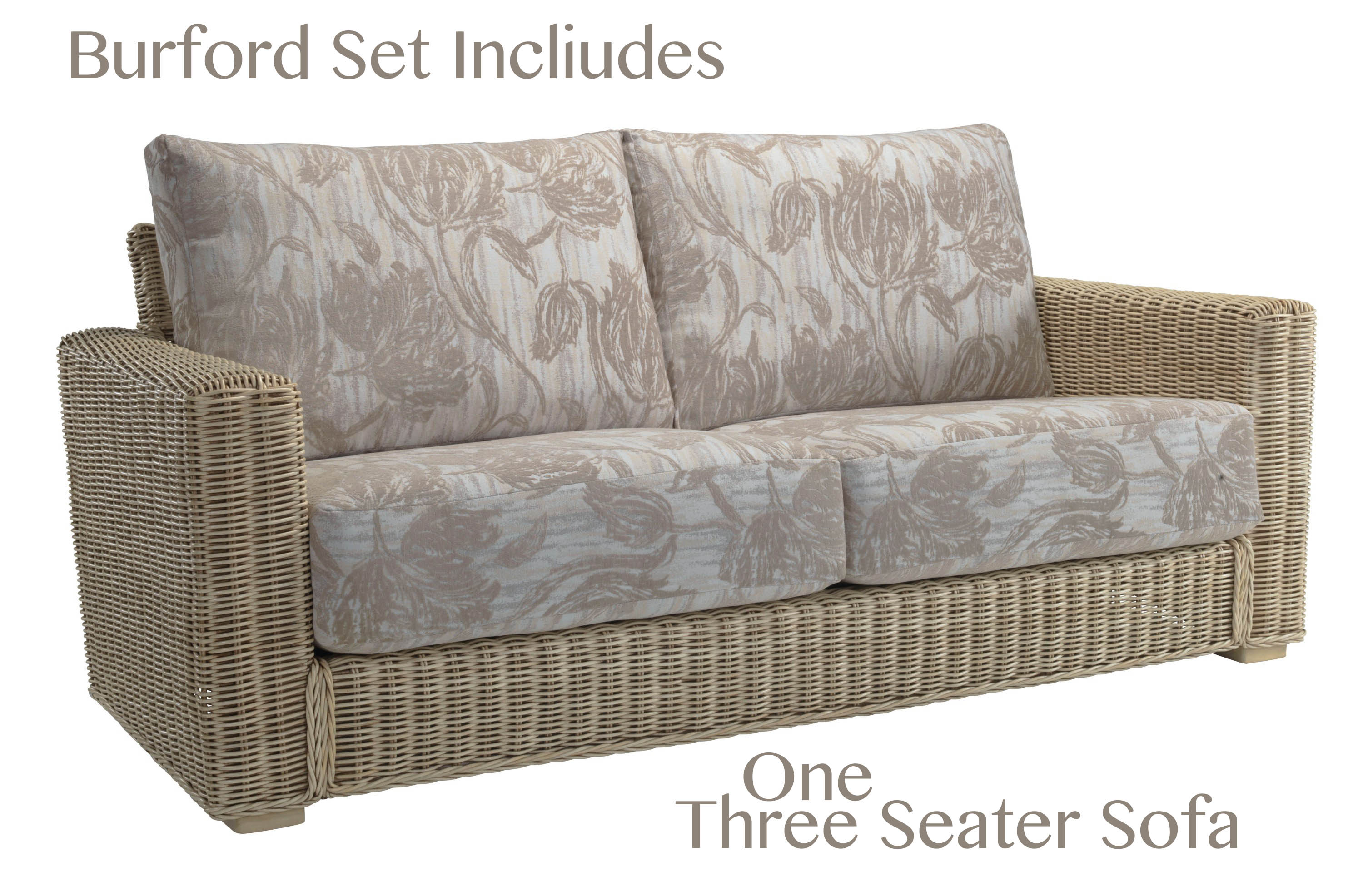 Desser Burford suite includes one three seater sofa & two armchairs