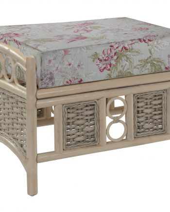 Desser Chelsea Rattan Footstool sold at Highgate Furniture Southend On Sea