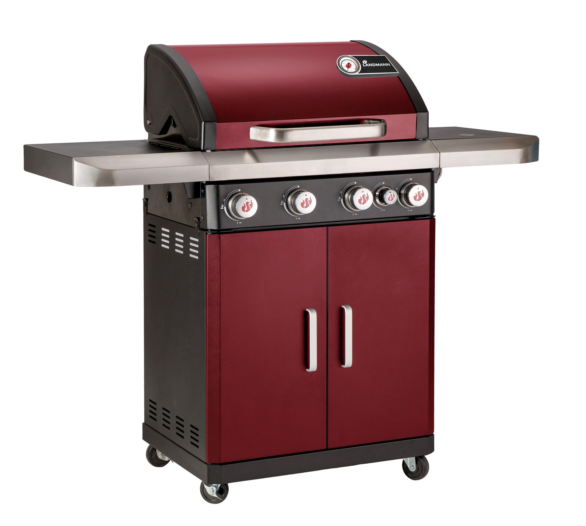 landmann rexon 4.1 gas barbecue - red