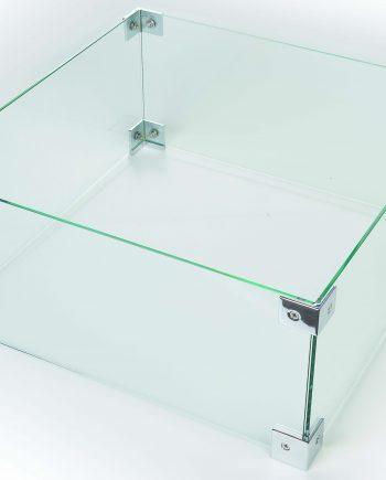 Happy Cocooning Fire Pit Glass enclosure kit sold at highgate Garden Furniture Essex