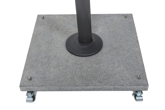 Norfolk Leisure Palermo Granite wheeled Base 90KG, with lockable wheels making it easy to move your parasol, compatible only with Palermo cantilever parasol available at Highgate Furniture in Southend on sea Essex , please call 01702 414030 for assistance.