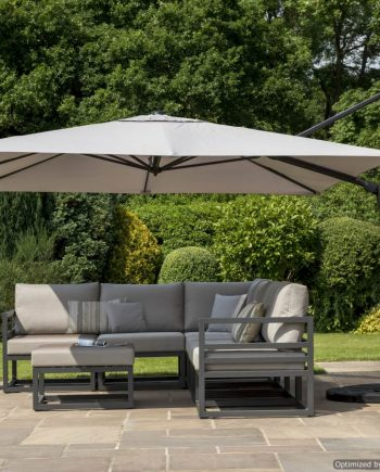 Norfolk leisure Deluxe 3x3 Cantilever Parasol sold at Highgate Furniture