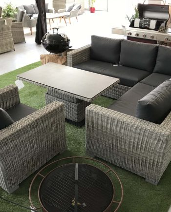 Life - Aya Casual Dining Corner Garden Set With Adjustable Table