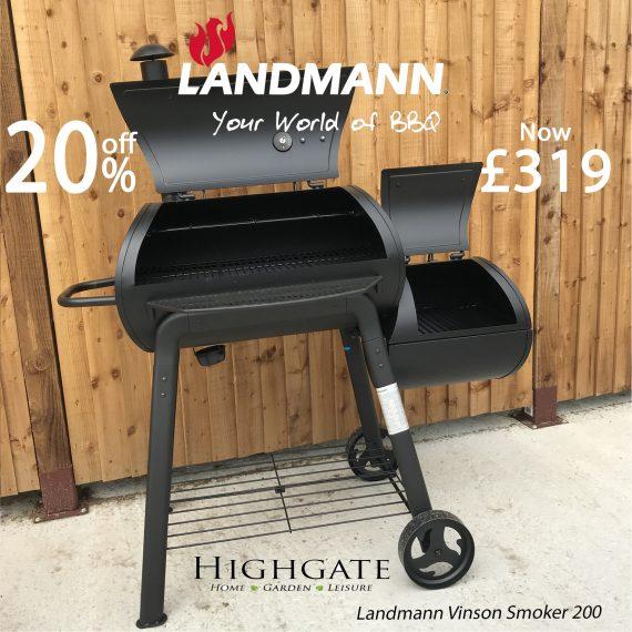 Landmann Vinson Charcoal Smoker Sold at Highgate Furniture Southend On Sea Essex