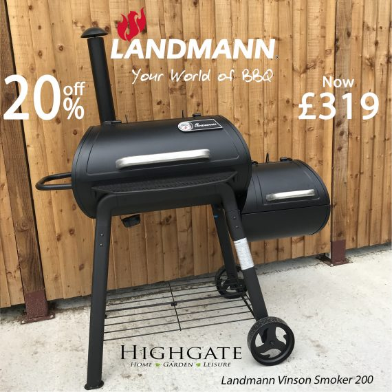 Landmann Vinson Smoker BBQ Sold at Highgate Furniture Southend On Sea Essex