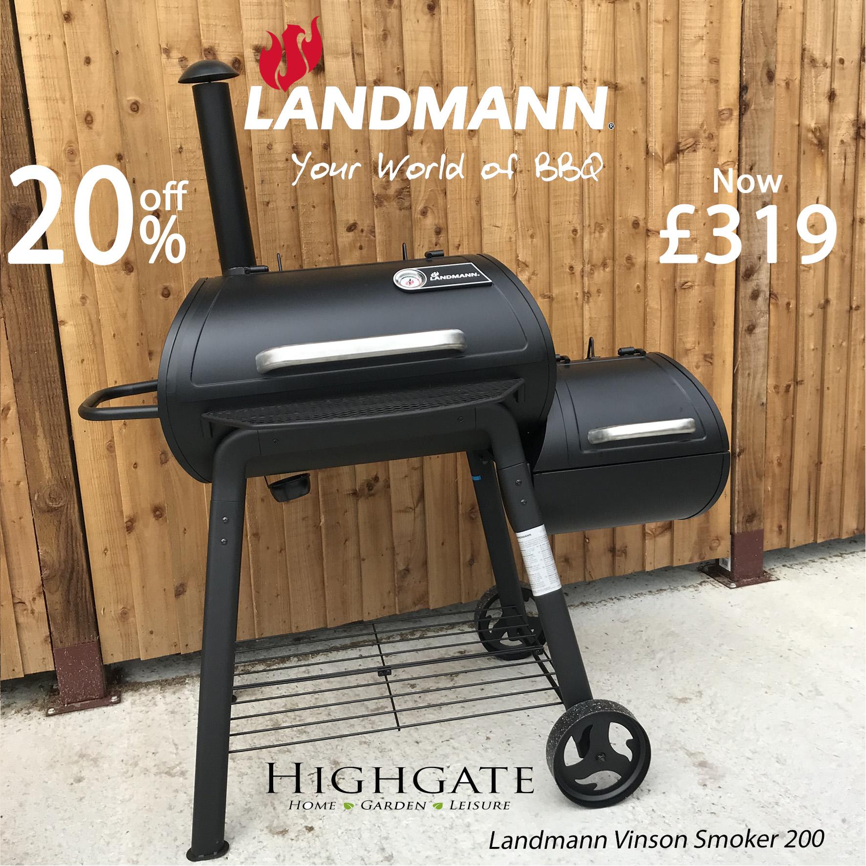 Landmann Vinson Smoker 200 Charcoal BBQ 11422