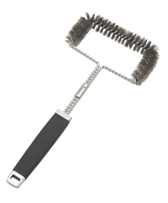 Landmann pure cleaning brush 13630 available from highgate furniture. This Landmann three sided brush is made from stainless steel has a rubberised handle and can be used on all bbq's and cast iron grills and hot plates. You can purchase this direct from Highgate furniture, our large showroom is in southend on sea Essex or you can call the Highgate team on 01702 414030.