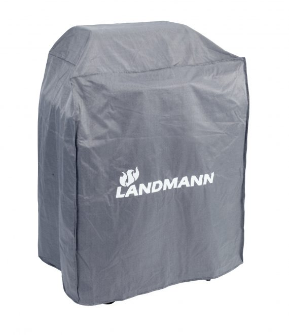 15705 Landmann Premium BBQ cover medium size it is rainproof, UV resistant and breathable, Suitable for use with the following Landmann barbecues: Triton 2 Burner 12902 & 12903 Black Taurus 660 31421 Dorado 31401 Grill Chef Tennessee Broiler 11503 Dual Burner 12375 or any BBQ with set up dimensions of 80 x 120 x 60cm available to purchase at Highgate furniture please visit our large showroom in Southend on sea Essex or call us on 01702 414030.