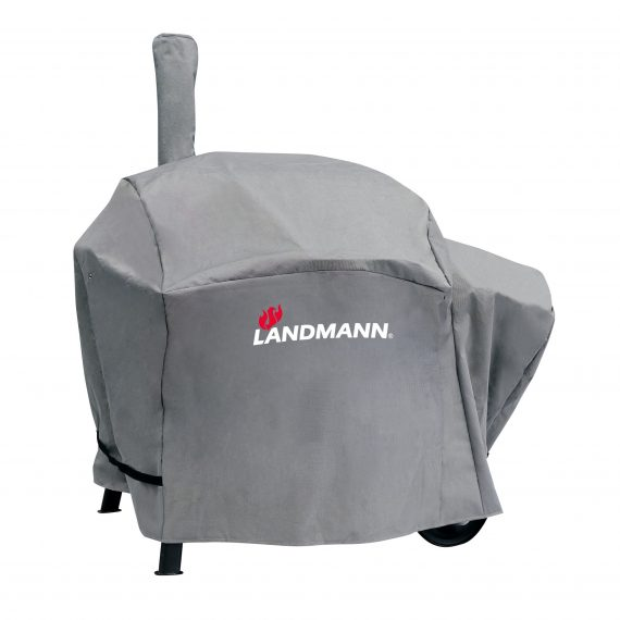 15726 landmann premium BBQ cover which fits perfectly on the sandman Vinson smoker 200, available from Highgate Furniture. it is made from Polyester, Waterproof and UV proof. available to purchase directly from highgate furniture's large showroom in southend on sea Essex or you can call us on 01702 414030.