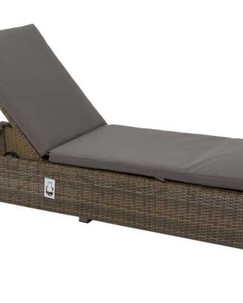 Life Aya Sunlounger Light Brown Sold at Highgate Furniture Southend On sea Essex