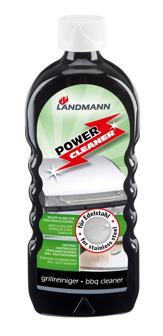 Landmann BBQ Power cleaner for stainless steel 15800 available from highgate furniture. This Landmann cleaner is for stainless steel surfaces, it removes dirt and a rust remover is included, it is water soluble, solvent free, biodegradable, corrosion resistant and non-flammable. You can purchase this cleaner direct from the highgate furniture showroom in southend on sea Essex. or if you have any questions please call us on 01702 414030.