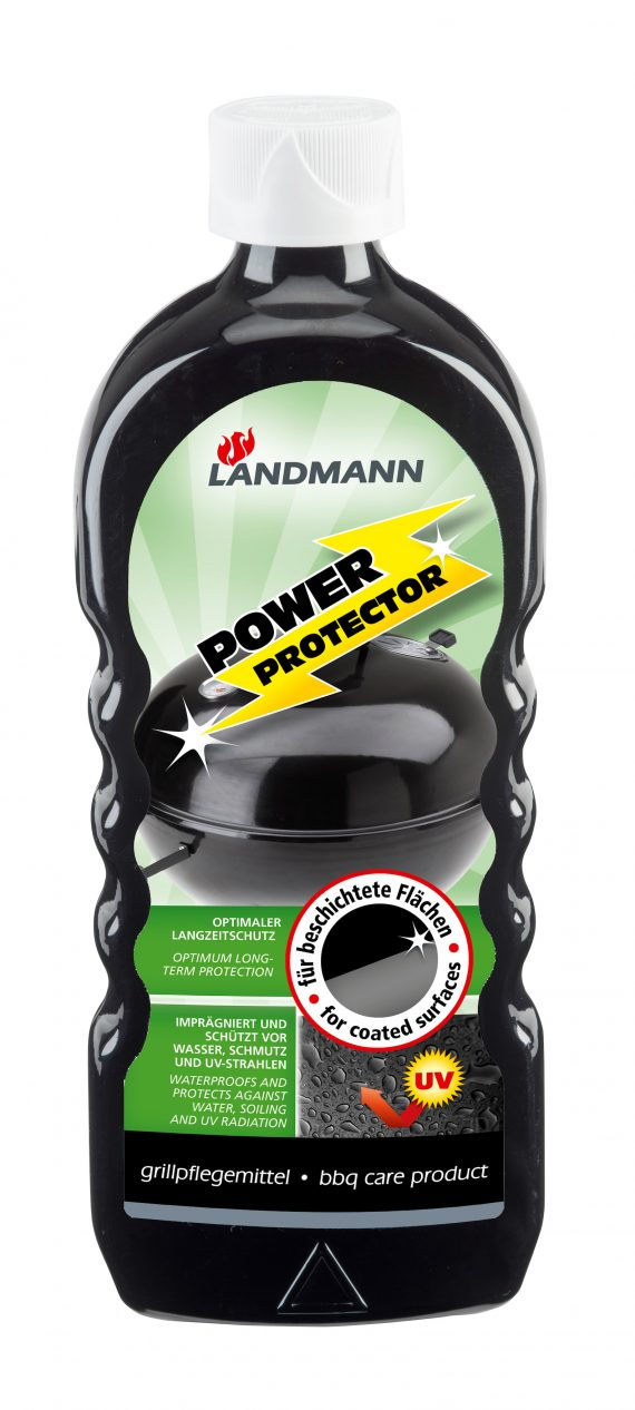 Landmann power protector 15802 available from highgate furniture. This landmann spray will protect your BBQ from the elements as it waterproofs and protects against water, soiling and UV radiation. You can purchase this direct from the highgate furniture showroom in southend on sea Essex or call us with any questions on 01702 414030 we will be happy to help.
