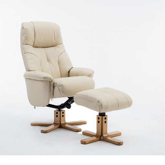 GFA Dubai Swivel Reclining Leather Chair Sold at Highgate Furniture Southend ON sea Essex