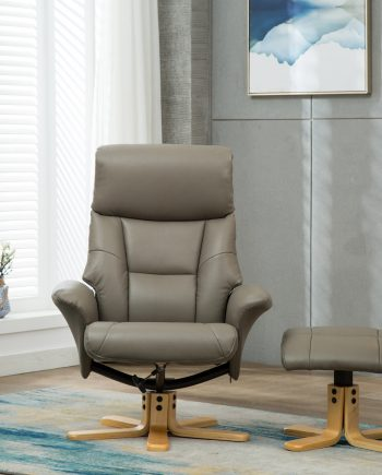 GFA Marseille Swivel Reclining Chair Grey sold at Highgate Furniture Southend On sea Essex