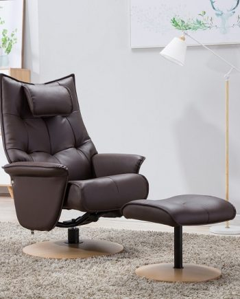 GFA Palmera Reclining Chair Brown Sold at Highgate Furniture Southend On Sea Essex