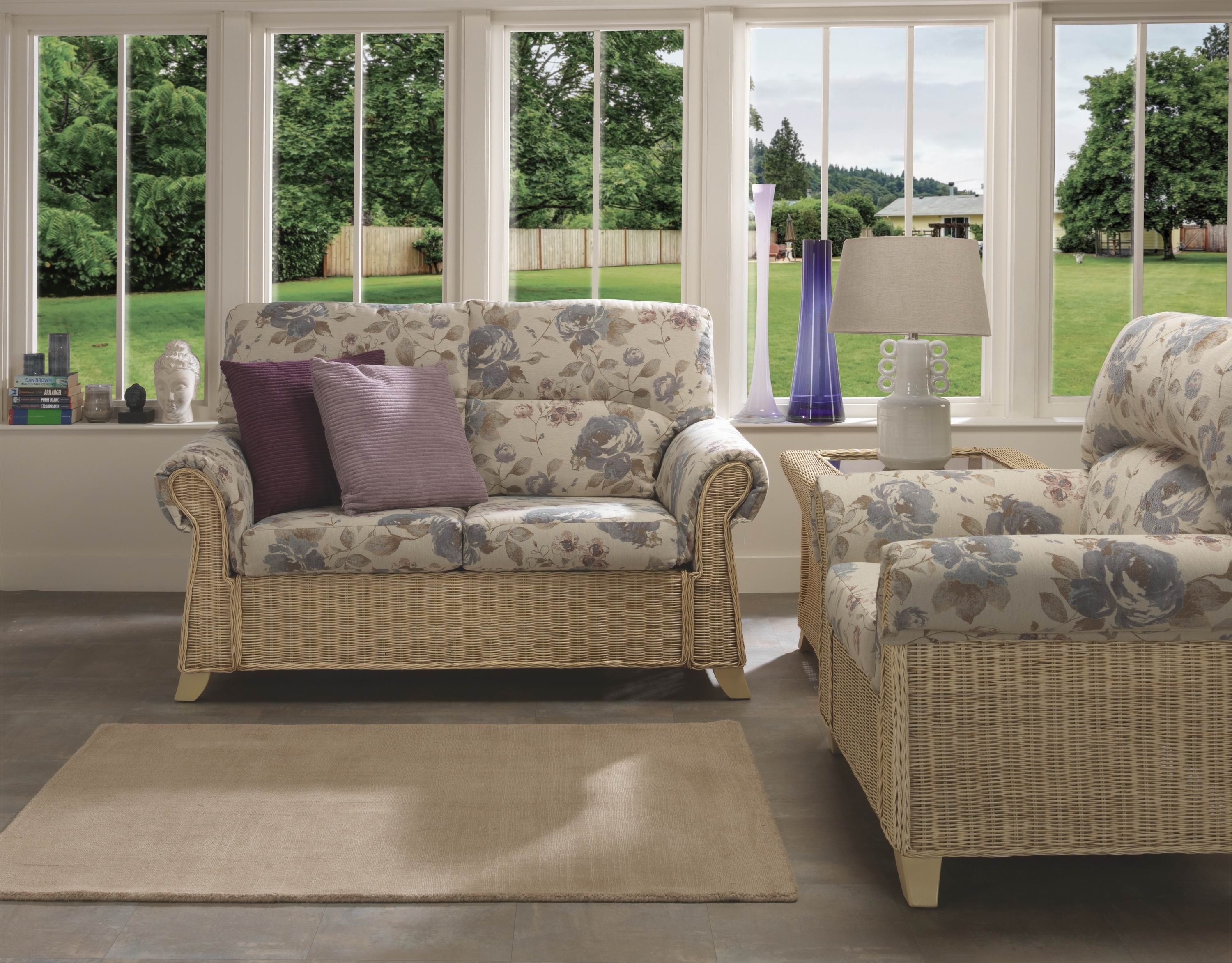 Desser Clifton 3 Seater Rattan Sofa And Armchair Suite