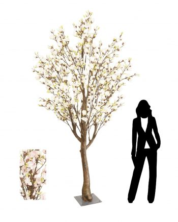 3m Pink Magnolia Artificial Tree