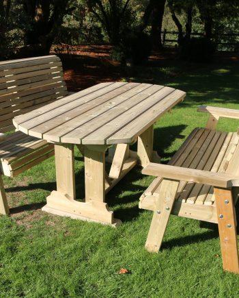 Highgate 6 seater Table & bench Set HG105 Highgate Furniture Southend On sea