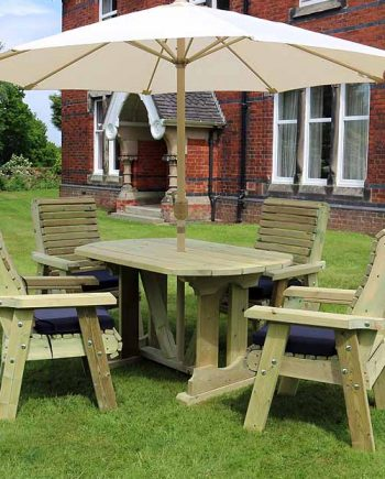 Highgate 4 Seater wooden Furniture Table Set