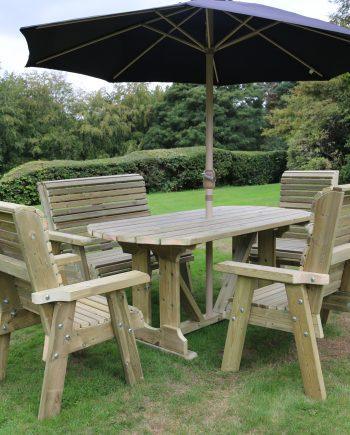 Highgate 6 Seater Wooden Furniture Set