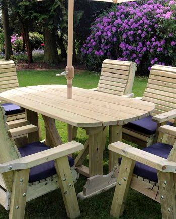Highgate 6 Seater Wooden Garden Furniture Set Southend On sea