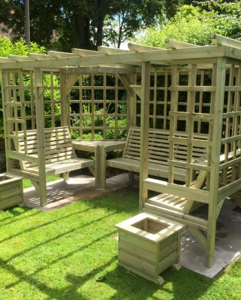 Highgate Wooden Seated Pergola