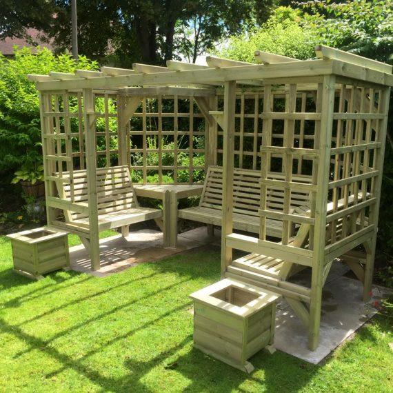 Highgate Wooden Seated Pergola