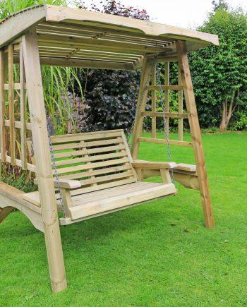 Highgate Wooden garden swing seat