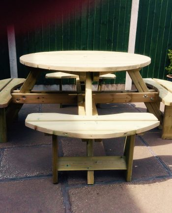 Highgate Round Wooden Picnic Table Should at Highgate Furniture Southend On Sea