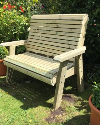 Highgate 2 Seater Wooden Bench HG130 Sold at Highgate Furniture Southend On sea Essex