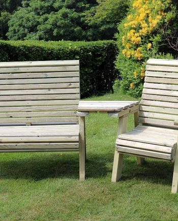 Highgate Wooden Trio Garden set Sold at Highgate Furniture Southend On sea