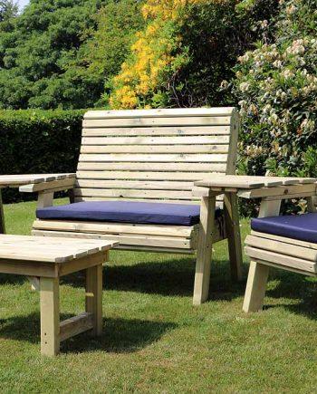 Highgate Wooden Garden Lounge set Sold at Highgate Furniture Southend On Sea Essex