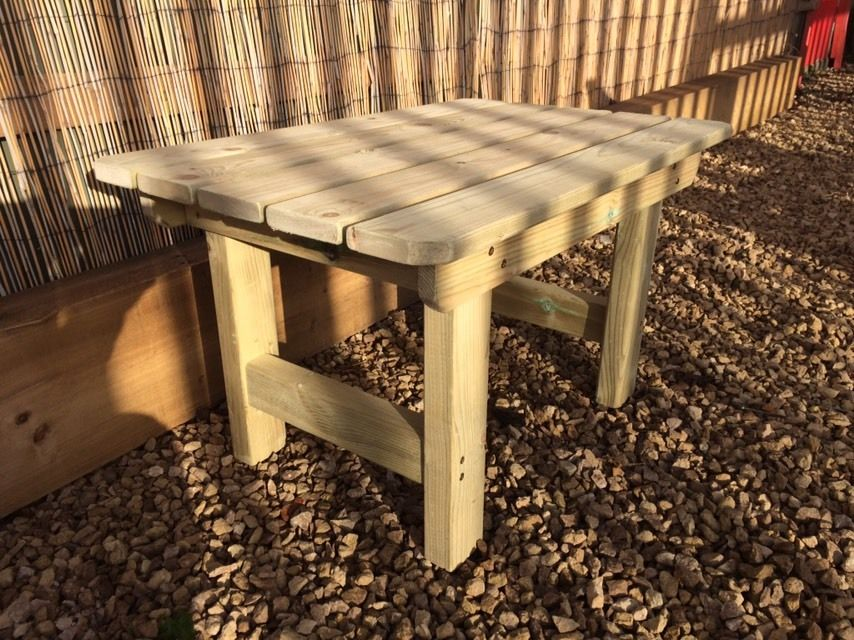 Highgate Wooden Garden Coffee Table, Wooden Coffee Table For Garden