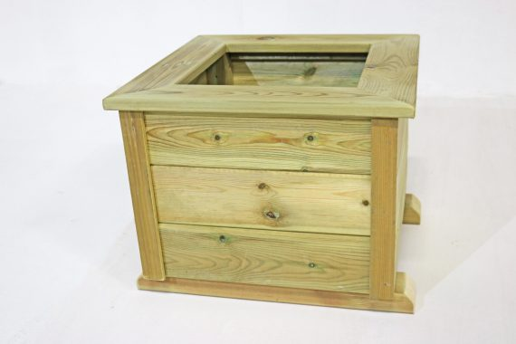 Highgate Wooden square planter Troughs sold at highgate furniture southend on sea Essex