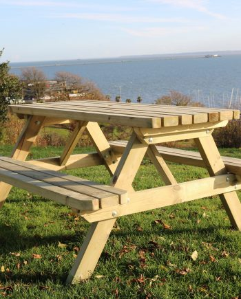 Highgate 1.8M Classic Wooden Commercial picnic Table Sold at Highgate Furniture Southend On sea Essex