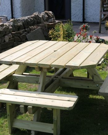 Highgate Square Picnic table 8 Seater sold at Highgate Furniture Southend On sea Essex