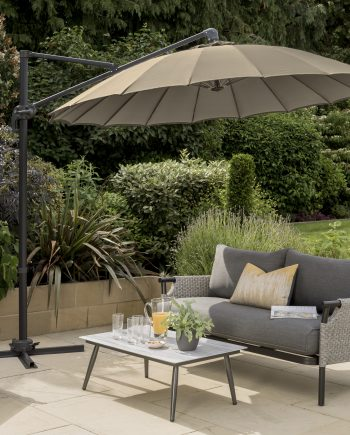 3m Geisha Cantilever Parasol Taupe Sold at Highgate Furniture