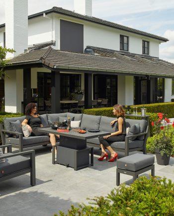 Life Timber Corner Lounge Set Lava Carbon garden set sold at highgate Furniture Southend On sea Essex